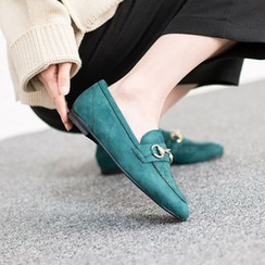 VIVIER - Metallic-Detail Faux-Suede Loafers