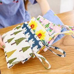 梨花娃娃 - 印花帆布腕帶包