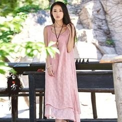 EMBRO - Linen Blend Layered Tank Dress