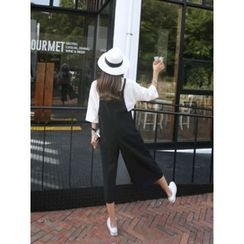 hellopeco - Wide-Leg Cropped Jumpsuit