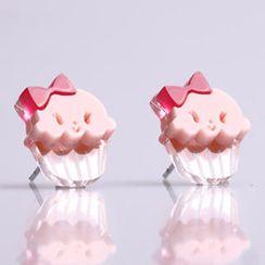 Sweet & Co. - Miss Cupcake Strawberry Stud Silver Earrings