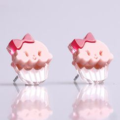 Sweet & Co. - Miss Cupcake Strawberry Stud Silver Earrings