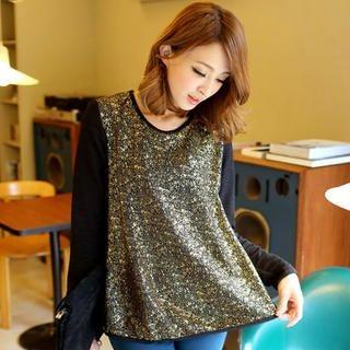Tokyo Fashion - Long-Sleeve Glitter Top