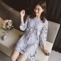 Cocofield - 3/4-Sleeve Lace Dress