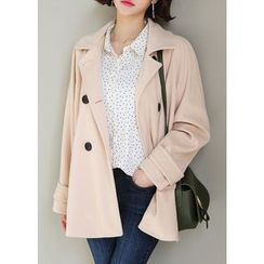 J-ANN - Tab-Sleeve Double-Breasted Jacket