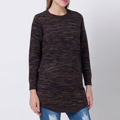 Richcoco - Melange Long Sweater