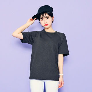 HOTPING - Short-Sleeve Colored Cotton T-Shirt