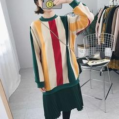 Eva Fashion - 拼接假两件连衣裙