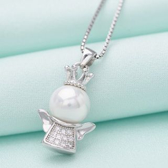 Zundiao - Rhinestone Pendant with Real Pearl