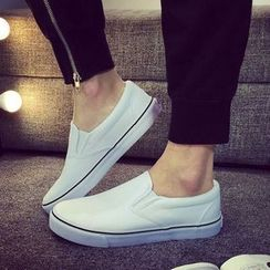 Solejoy - Couple Matching Canvas Slip-On Sneakers