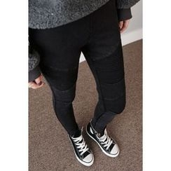 migunstyle - Band-Waist Skinny Pants
