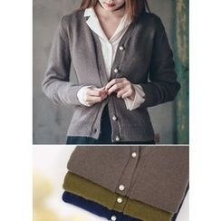 Chlo.D.Manon - Faux-Pearl Button Wool Blend Cardigan
