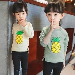 Merry Go Round - Kids Pineapple Print Long-Sleeve T-Shirt