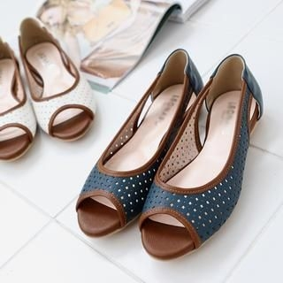 VIVIER - Open-Toe Perforated Flats