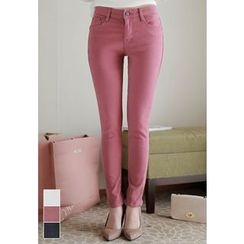 MyFiona - Brushed-Fleece Lined Skinny Pants
