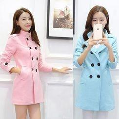 Sienne - Double Breasted Woolen Coat
