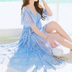 Jolly Club - 蕾丝沙滩裙
