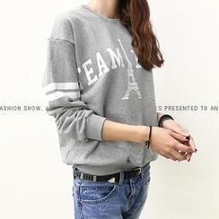 NANING9 - Cotton Print Sweatshirt