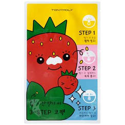 Tony Moly - Homeless Strawberry Seeds 3 Step Nose Pack