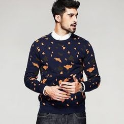Quincy King - Patterned Knit Pullover
