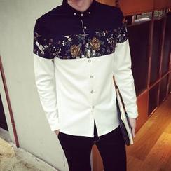 Etoile - Color-Block Floral Shirt