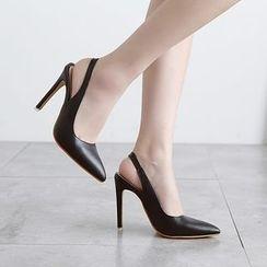 安若 - 露跟尖頭高跟鞋