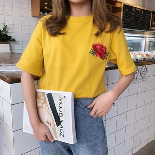 Short-Sleeve Embroidered T-Shirt