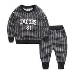 DEARIE - 兒童套裝: 條紋衛衣 + 運動褲