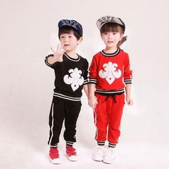 NIFTY - Kids Set : Patterned Long-Sleeve Top + Pants