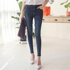 ode' - Fray-Hem Skinny Jeans