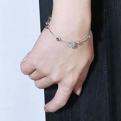 Momo Town - Rhinestone Beaded Bracelet/Anklet