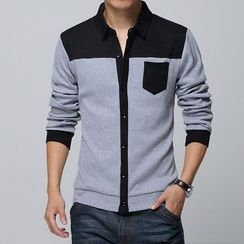 Jazz Boy - Long-Sleeve Color-Block Buttoned Jacket