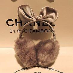 Azalea - Faux Fur Bow Earmuff