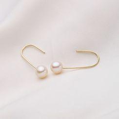 微微珍珠 - 淡水珍珠勾耳環