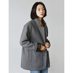 FROMBEGINNING - Wool Blend Single-Breasted Jacket