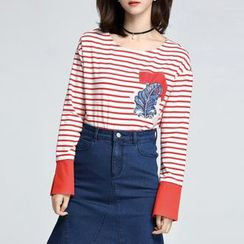 Sentubila - Long-Sleeve Printed T-Shirt