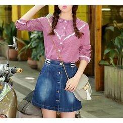 Dollisee - Lace Trim Check Shirt