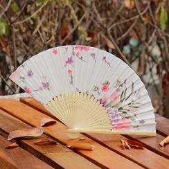 Wylon Arts & Crafts - Floral Folding Fan