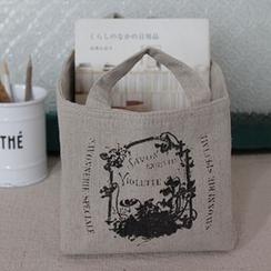 Goodwood - Printed Linen Storage Basket