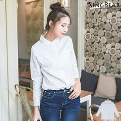RingBear - Long  Sleeve Plain Shirt
