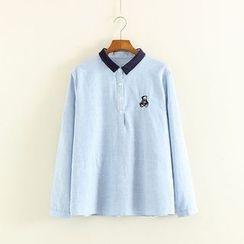 Mushi - Striped Half Placket Shirt