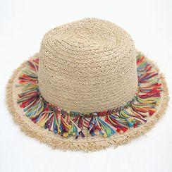 chuu - Fringed Straw Hat