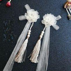 Kiyoha - Ancient Style Flower Ribbon Hair Pin