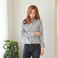 Styleberry - Pocket-Front Stripe Shirt
