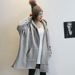 NANING9 - Oversized Cotton Hoodie