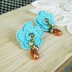 MyLittleThing - Blue Lace Flower Earrings