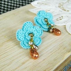 MyLittleThing - Blue Lace Flower Earrings
