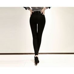 Marlangrouge - Lace-Up Back Skinny Pants