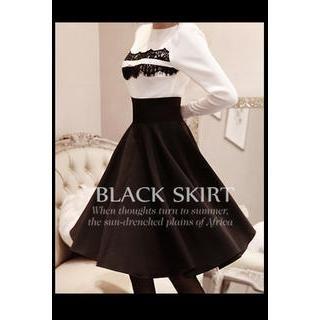 LOVEMARSH - A-Line Midi Skirt