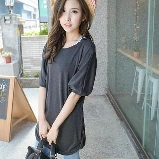 YoungBaby - Batwing-Sleeve T-Shirt Dress